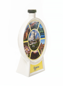 Bottle for vodka  Souvenir plate